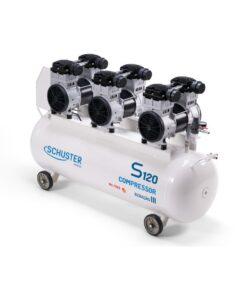 Compressor de Ar S120 GIII 120L - Schuster Dental LFWeber Campo Grande MS